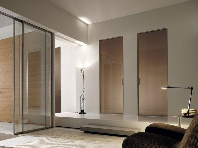 Screen printed glass pocket sliding door GDESIGNER | Pocket sliding door by GAROFOLI