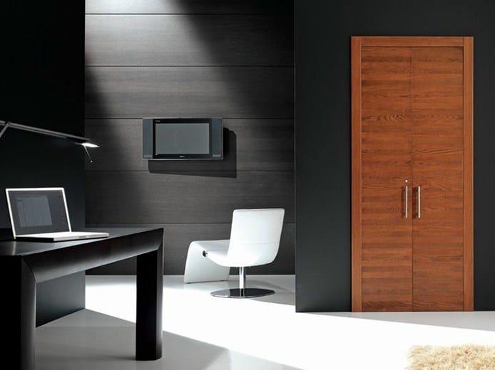 Wooden pocket sliding door QUARANTA | Pocket sliding door by GAROFOLI