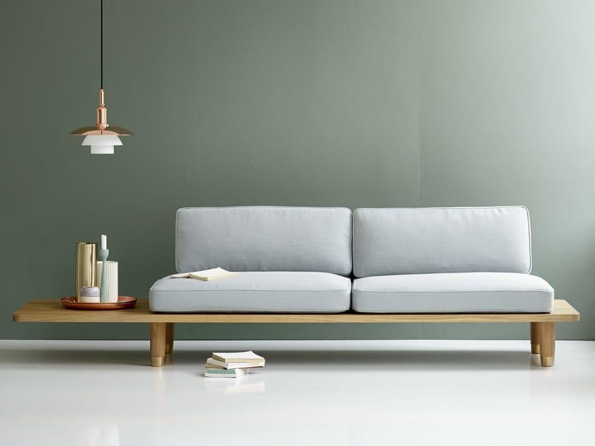 2 seater fabric sofa PLANK SOFA   Fabric sofa by dk3
