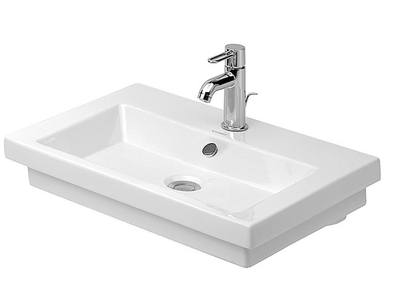 Single ceramic washbasin with overflow 2ND FLOOR | Washbasin by Duravit