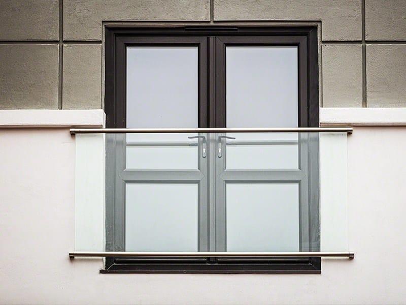Parapetto in acciaio inox e vetro per finestre e balconi con LED PARAPETTO ALLA FRANCESE | Parapetto in vetro by Q-RAILING ITALIA