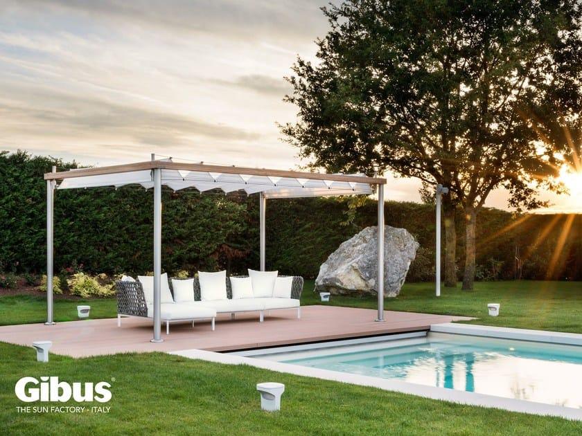 Freestanding aluminium pergola with sliding cover RADA   Pergola with sliding cover by GIBUS