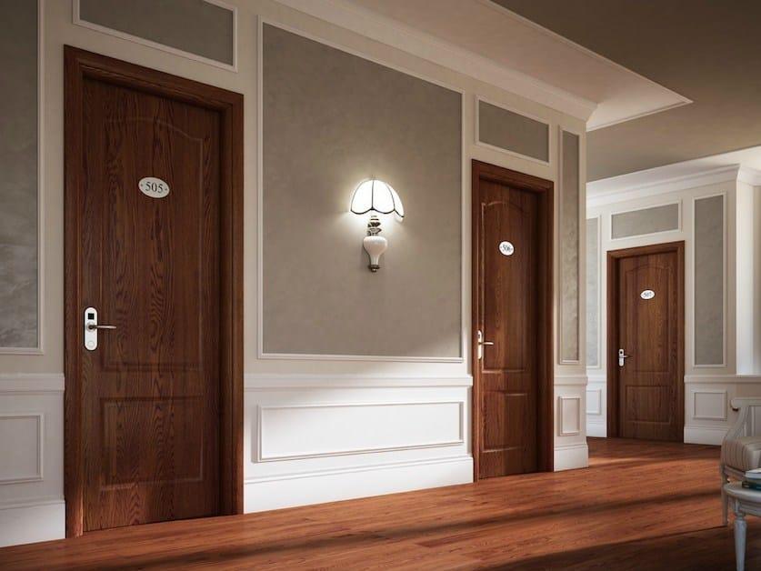 Fire-rated wood veneer door REI 30 | Fire-rated door by GAROFOLI