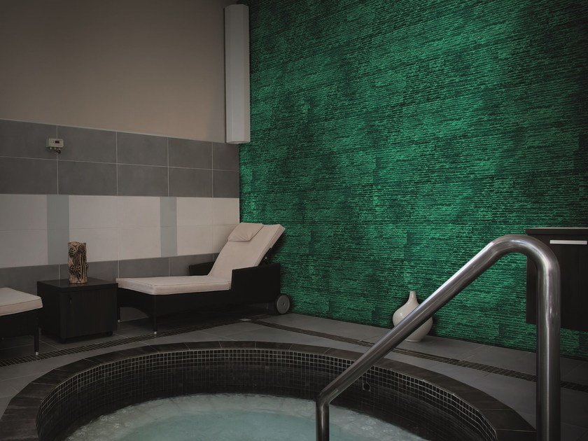 Ecofriendly luminescent indoor wall stone tiles ANTARES by BIOPIETRA®
