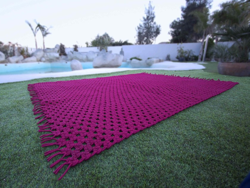 Polyester outdoor rugs CROCHET by Sérénité Luxury Monaco
