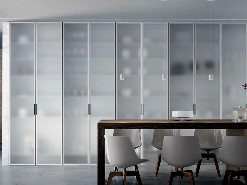 Satin glass cabinet door MIRIA GLASS | Satin glass cabinet door by GAROFOLI