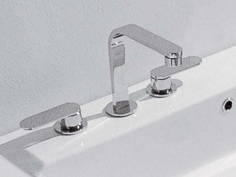 3 hole countertop washbasin tap ONE | 3 hole washbasin mixer by CERAMICA FLAMINIA