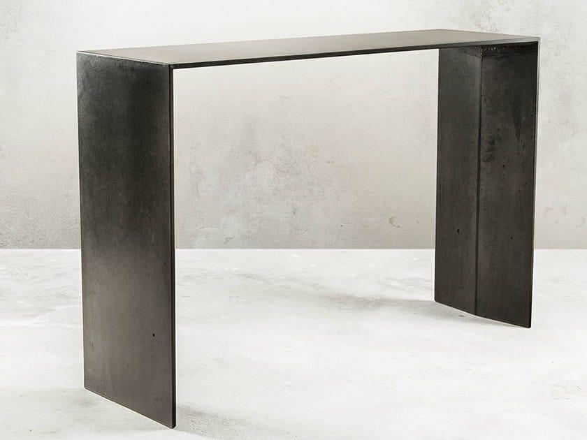 Fiber-reinforced concrete console table SIMPLE   Concrete console table by MALHERBE EDITION