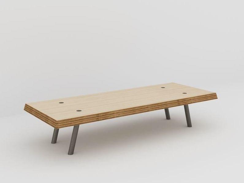 Rectangular coffee table L'ACIER BISEAUTÉE by MALHERBE EDITION