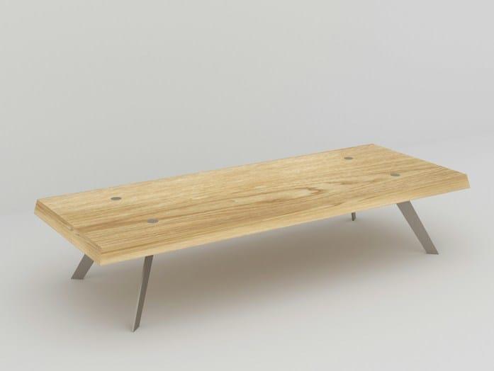 Rectangular coffee table LA LAMÉE by MALHERBE EDITION