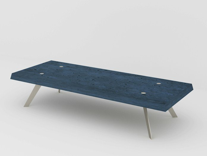 Rectangular Fiber-Reinforced Concrete Coffee Table La Béton Lamée