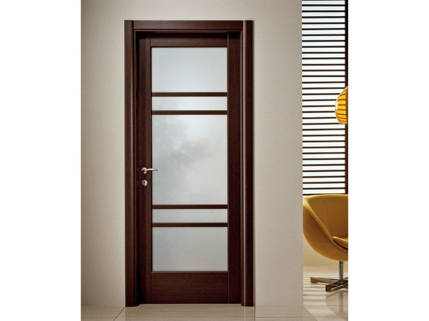 Hinged satin glass door XOSIA | Satin glass door by GIDEA