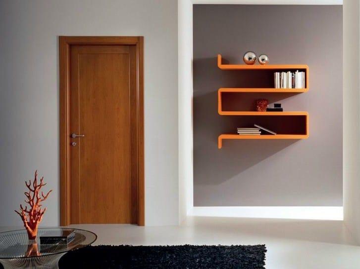Hinged laminate door GENIA | Cherry wood door by GIDEA