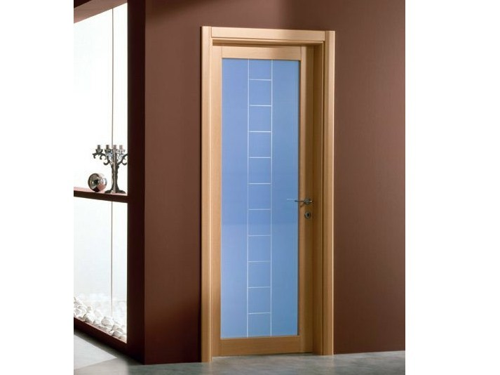 Hinged stained glass door GENIA | Stained glass door by GIDEA