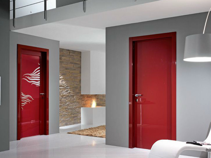 Hinged decorated glass door SMART | Decorated glass door by GIDEA