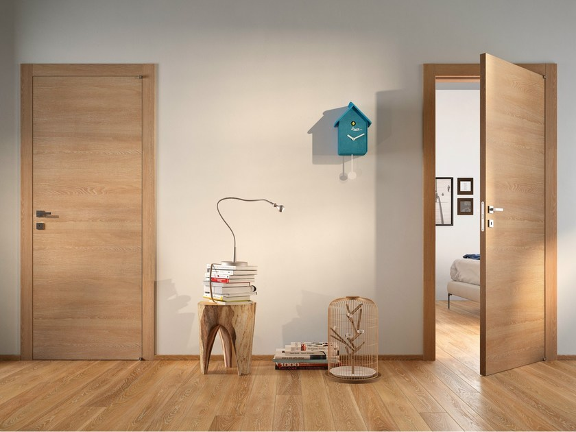 Hinged laminate door GRAIN | Hinged door by GIDEA