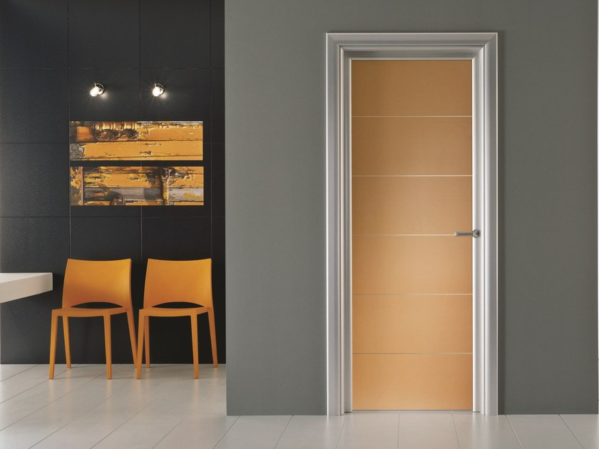 Hinged stained glass door ANTHA | Stained glass door by GIDEA
