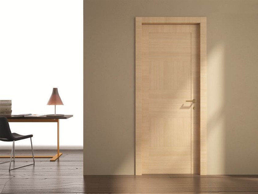 Hinged laminate door STILIA | Oak door by GIDEA