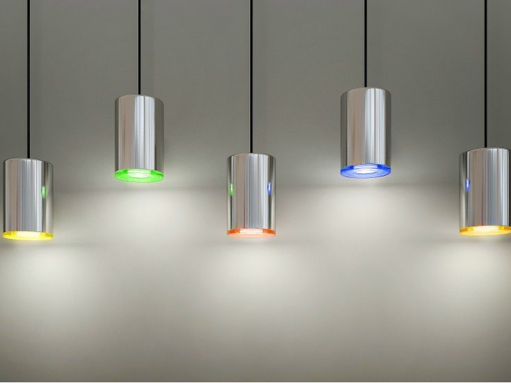 LED direct light pendant lamp CAN by Quasar