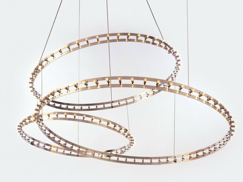 LED metal pendant lamp CITADEL COMPOSITION by Quasar