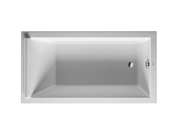 Rectangular acrylic bathtub STARCK | Acrylic bathtub by Duravit