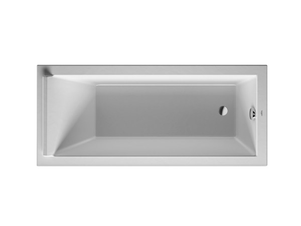 Rectangular acrylic bathtub STARCK | Acrylic bathtub by Duravit