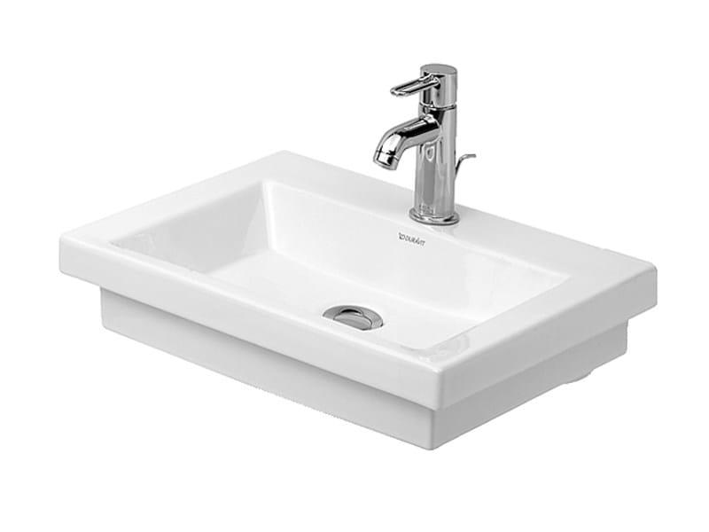 Countertop rectangular ceramic handrinse basin 2ND FLOOR | Handrinse basin by Duravit