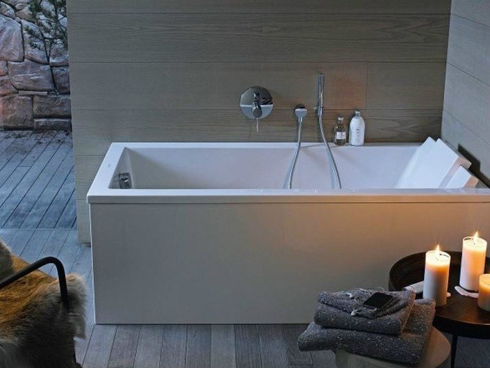 Vasca Da Bagno Duravit : Vasca da bagno rettangolare in acrilico starck vasca da bagno