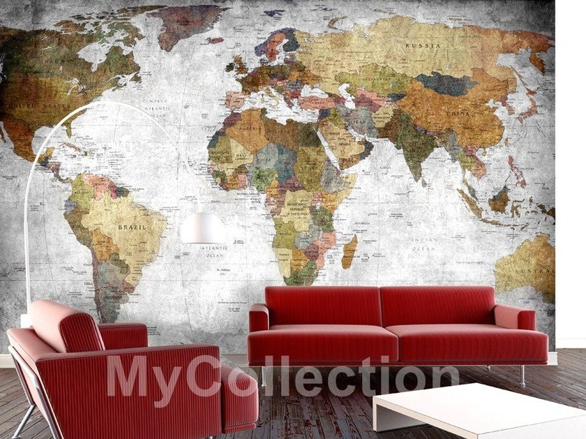 Motif panoramic wallpaper GLOBE by MyCollection.it