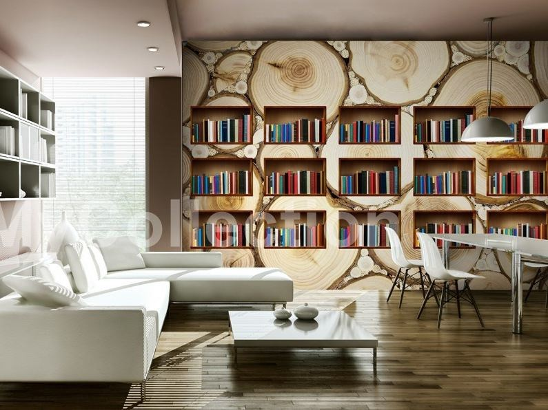 Motif wallpaper NATURAL LIBRARY by MyCollection.it