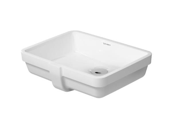 Undermount rectangular ceramic washbasin VERO | Undermount washbasin by Duravit