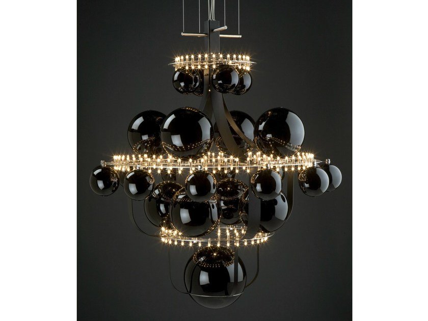 Halogen metal pendant lamp ROYAL BB | Pendant lamp by Quasar