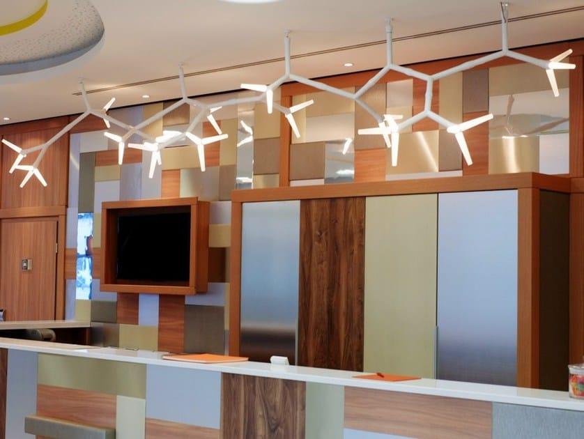 Aluminium ceiling lamp SPARKS by Quasar
