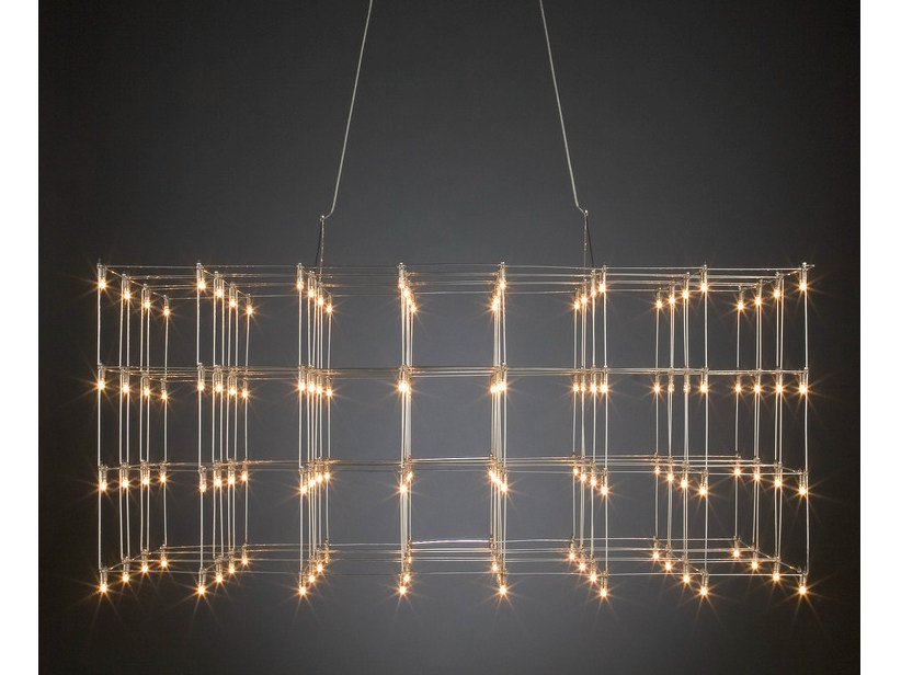 LED nickel pendant lamp UNIVERSE SQUARE by Quasar