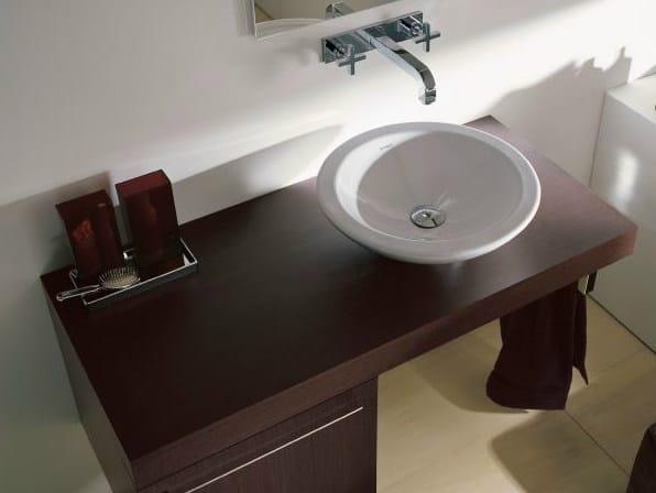 Wood veneer washbasin countertop FOGO   Wood veneer washbasin countertop by Duravit