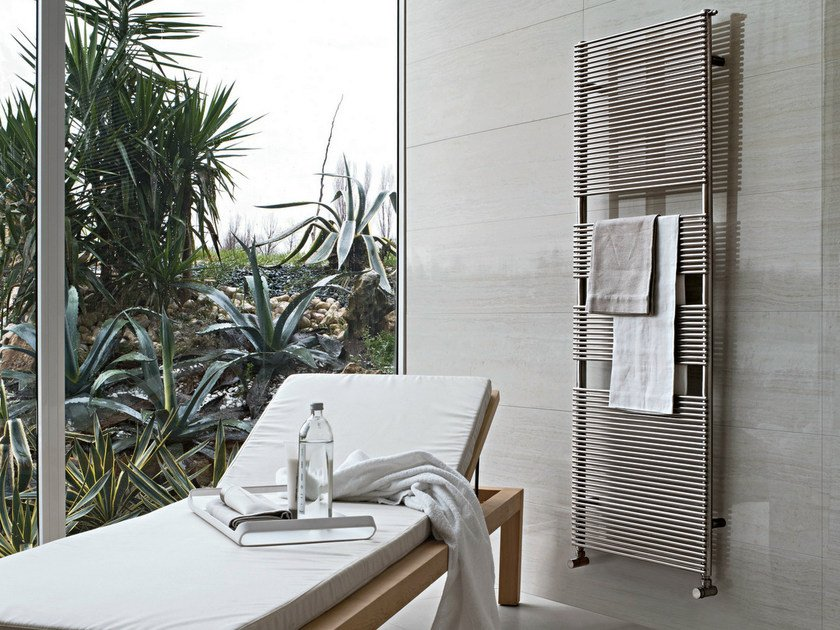 Wall-mounted stainless steel towel warmer IXSTEEL | Stainless steel towel warmer by Tubes Radiatori