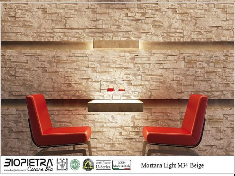 Artificial stone finish MONTANA LIGHT by BIOPIETRA®