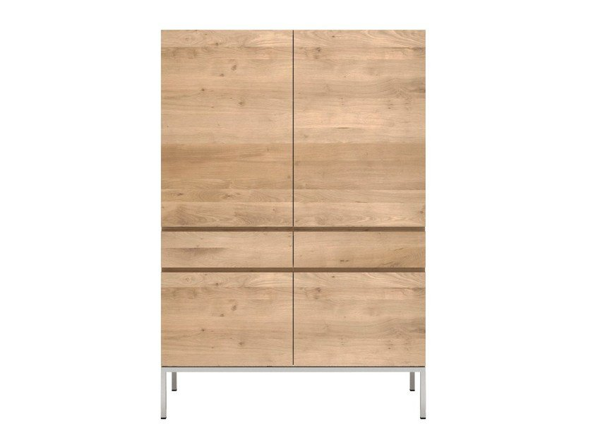 Cupboard with doors and drawers OAK LIGNA | Highboard by Ethnicraft