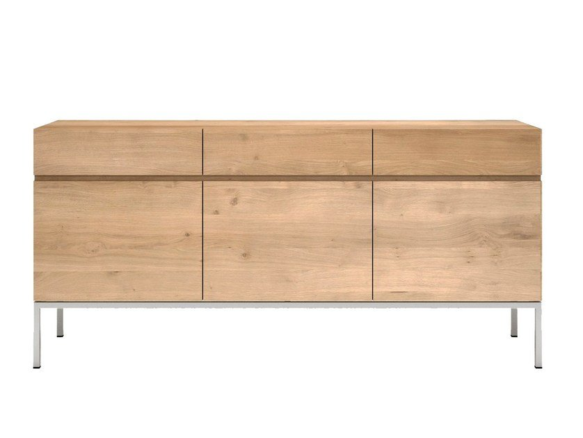 Solid wood sideboard with doors and drawers OAK LIGNA | Sideboard by Ethnicraft