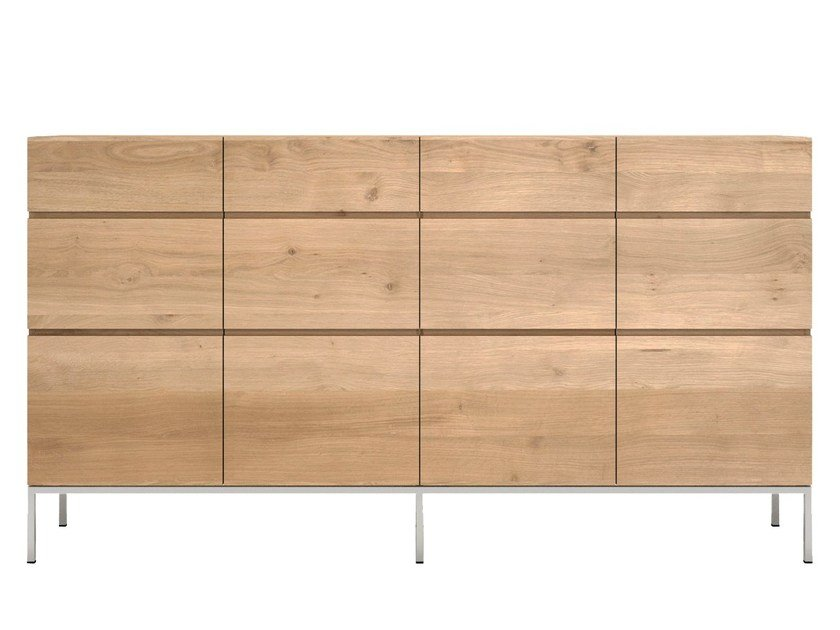 Solid wood high sideboard with doors OAK LIGNA | Sideboard by Ethnicraft