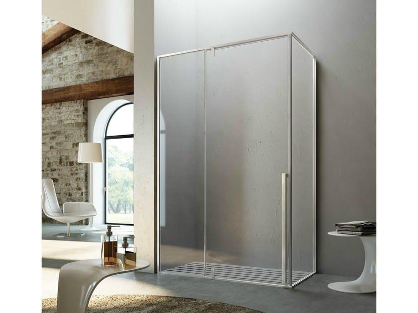 Rectangular shower cabin with pivot door KAHURI KO+KL by Glass1989