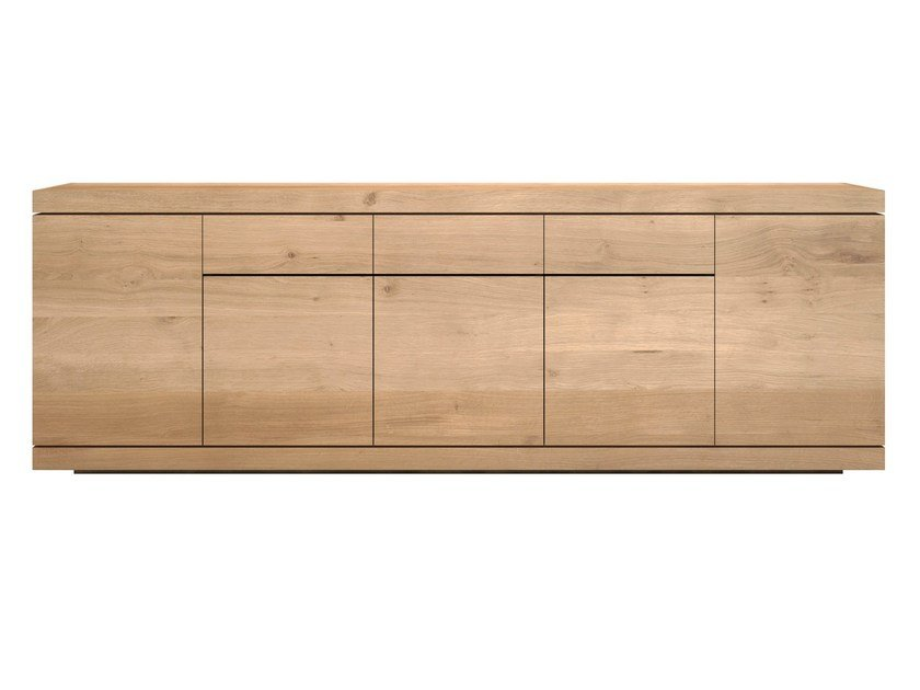 Solid wood sideboard with doors and drawers OAK BURGER | Sideboard by Ethnicraft