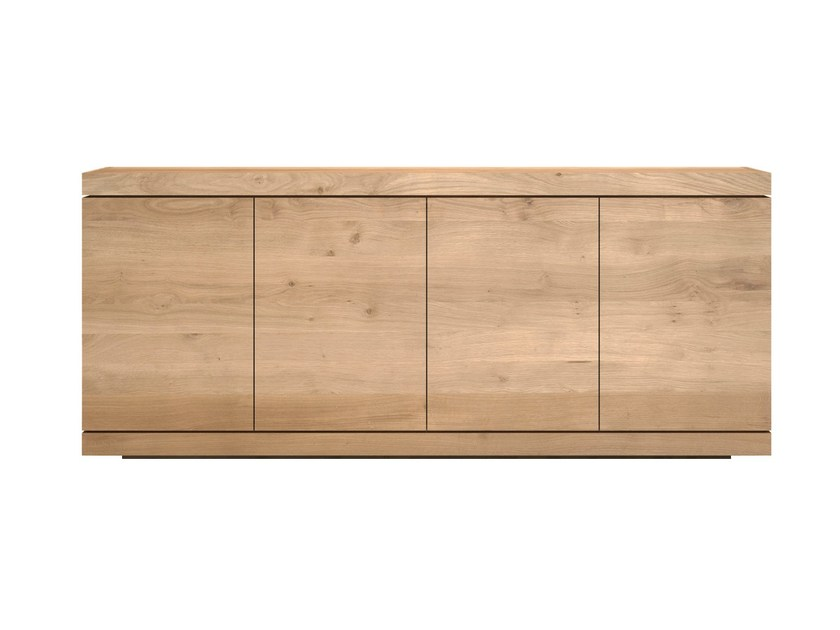 Solid wood sideboard with doors OAK BURGER   Solid wood sideboard by Ethnicraft