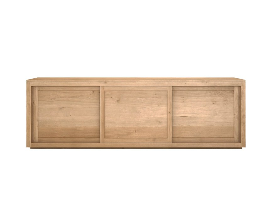 Solid wood sideboard with sliding doors OAK PURE | Sideboard by Ethnicraft