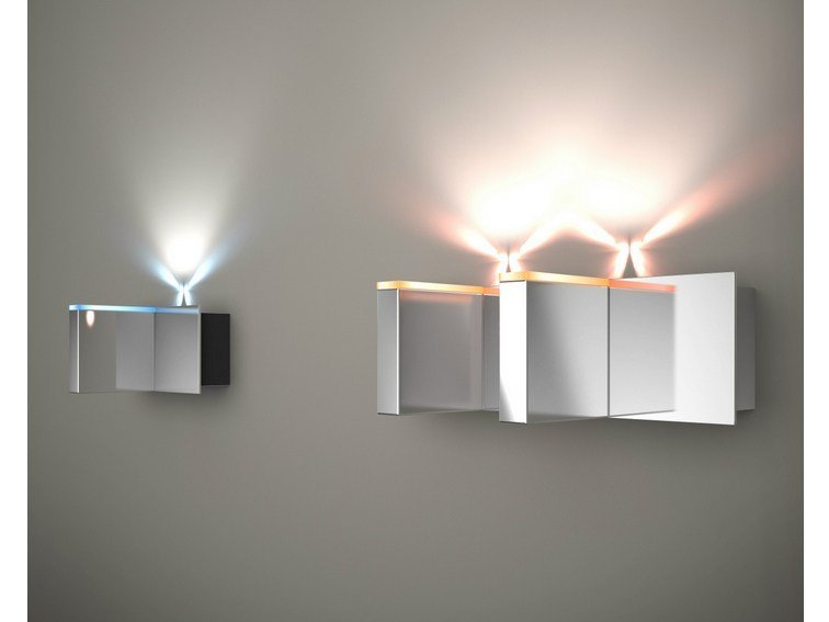 LED indirect light aluminium wall light MATCH 1 OR 2 | LED wall light by Quasar