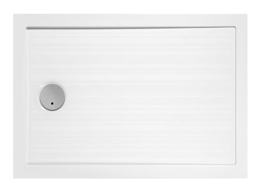 Anti-slip rectangular shower tray FLAT | Rectangular shower tray by Glass1989