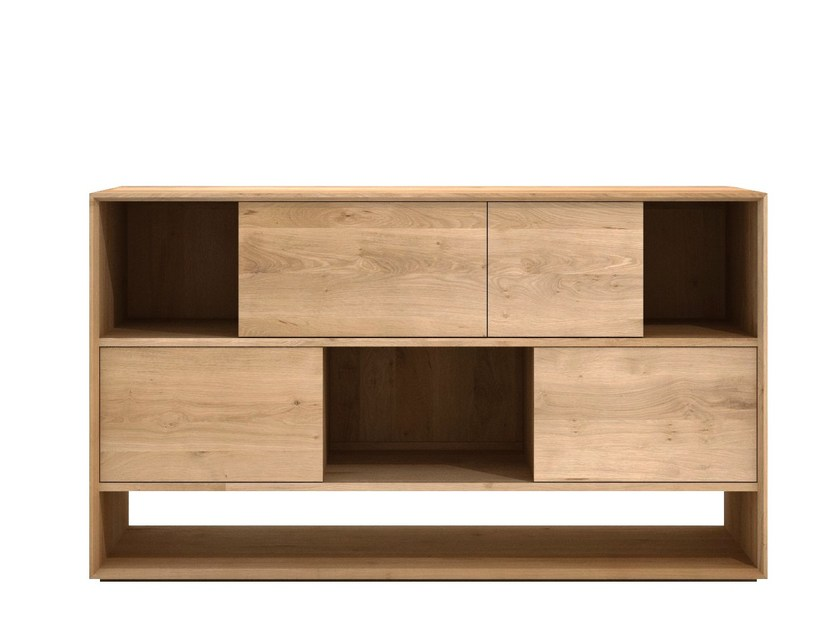Solid wood sideboard with sliding doors OAK NORDIC | Sideboard with sliding doors by Ethnicraft