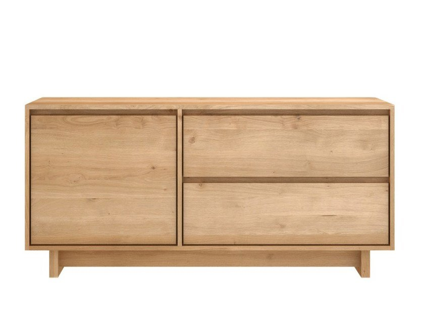 Solid wood TV cabinet OAK WAVE | Solid wood TV cabinet by Ethnicraft