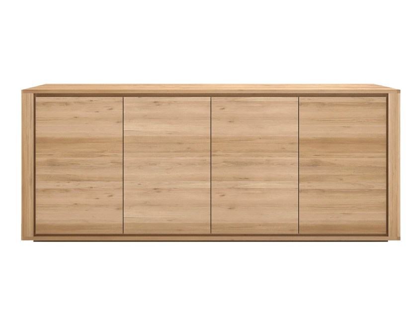 Solid wood sideboard with doors OAK SHADOW | Solid wood sideboard by Ethnicraft
