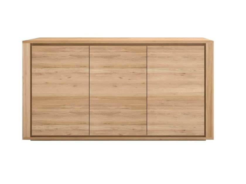 Wooden sideboard with doors OAK SHADOW   Wooden sideboard by Ethnicraft